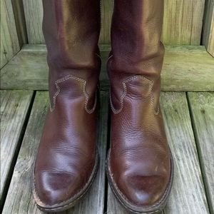 Born W6728 Shavano Brown Leather Boots US 7.5